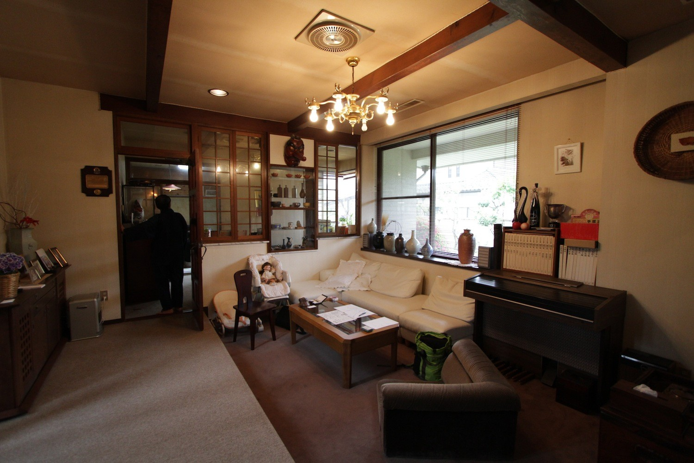リビングダイニング事例:室内ビフォア(木造築30年「フルリノベーション+増築」で二世帯住宅に改築 OUCHI-23)