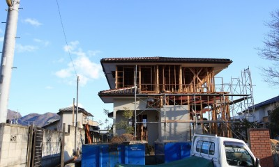 木造築30年「フルリノベーション+増築」で二世帯住宅に改築 OUCHI-23 (スケルトンに解体して耐震補強を行った)