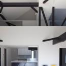 木造築30年「フルリノベーション+増築」で二世帯住宅に改築 OUCHI-23の写真 子世帯リビング吹抜