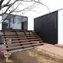 木造築30年「フルリノベーション+増築」で二世帯住宅に改築 OUCHI-23の写真 庭につながる子世帯のリビング