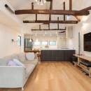 光と風があふれる家に『まるごと再生』の写真 【2階リビング・ダイニングAfter】