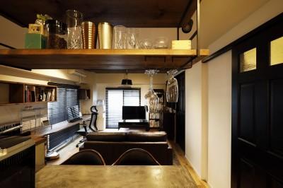キッチン~リビング (自分らしくビンテージマンションで暮らす)