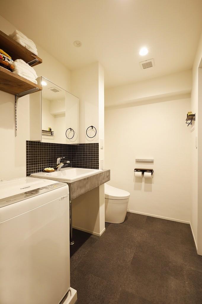 自分らしくビンテージマンションで暮らす (洗面 トイレ)