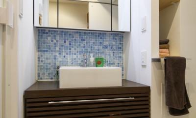 自然素材の家 (洗面化粧台)