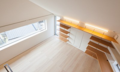 南馬込の住宅 (3階螺旋階段)