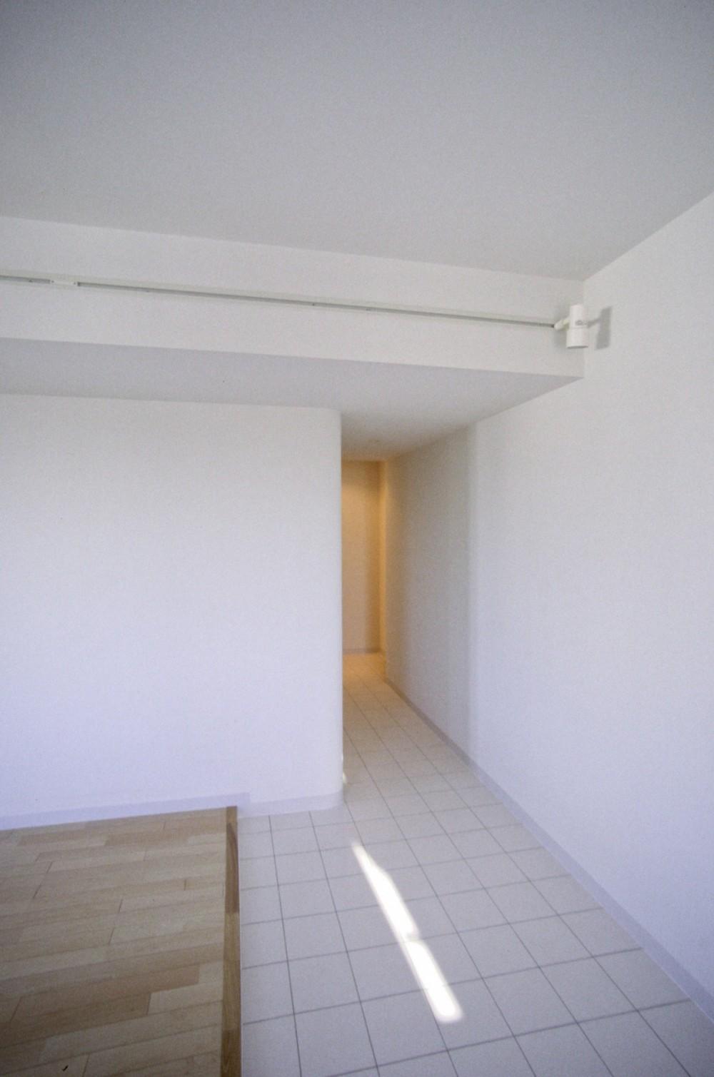 東京中野 ミニマル・シンプルな空間へマンションリノベーション (リビング端部の土間エリア)