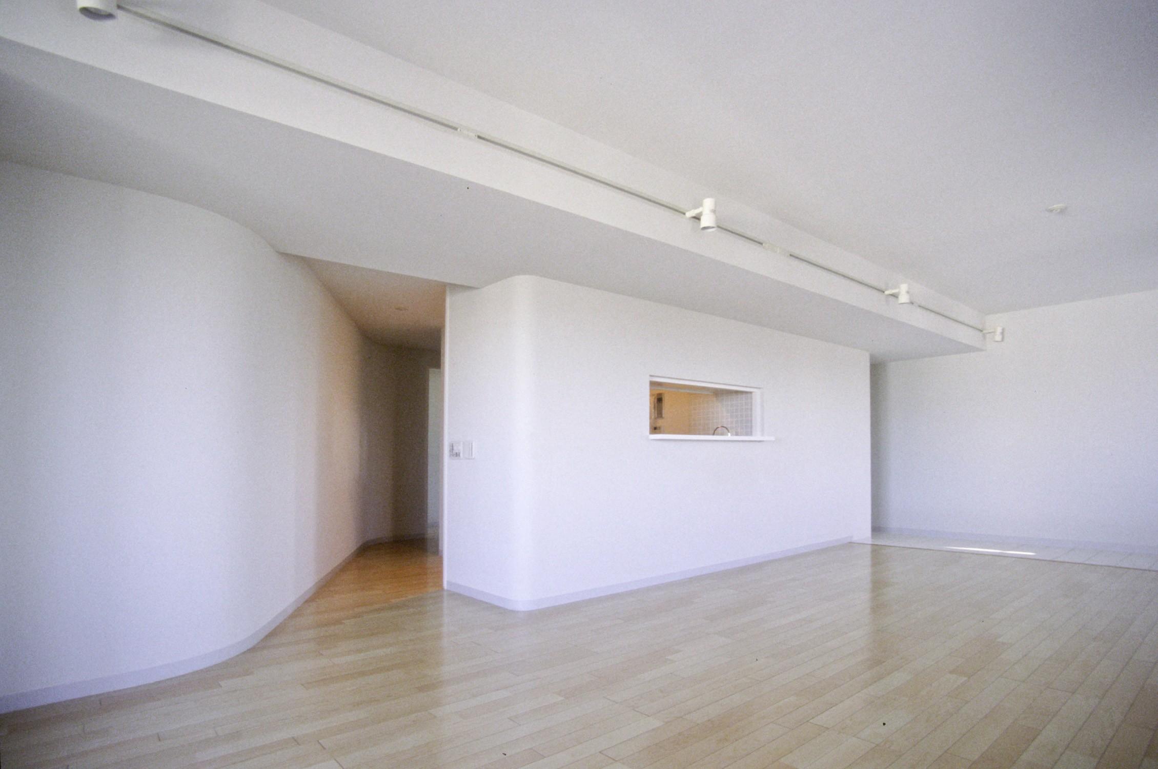 リビングダイニング事例:個室への入り口(東京中野 ミニマル・シンプルな空間へマンションリノベーション)