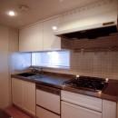 東京中野 ミニマル・シンプルな空間へマンションリノベーションの写真 キッチン