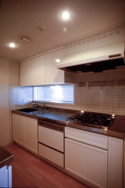 キッチン (東京中野 ミニマル・シンプルな空間へマンションリノベーション)