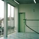 ポップなカラーの子供が楽しむ鉄骨構造の狭小住宅(Kid`s House):天井が高い住まいの写真 子供室