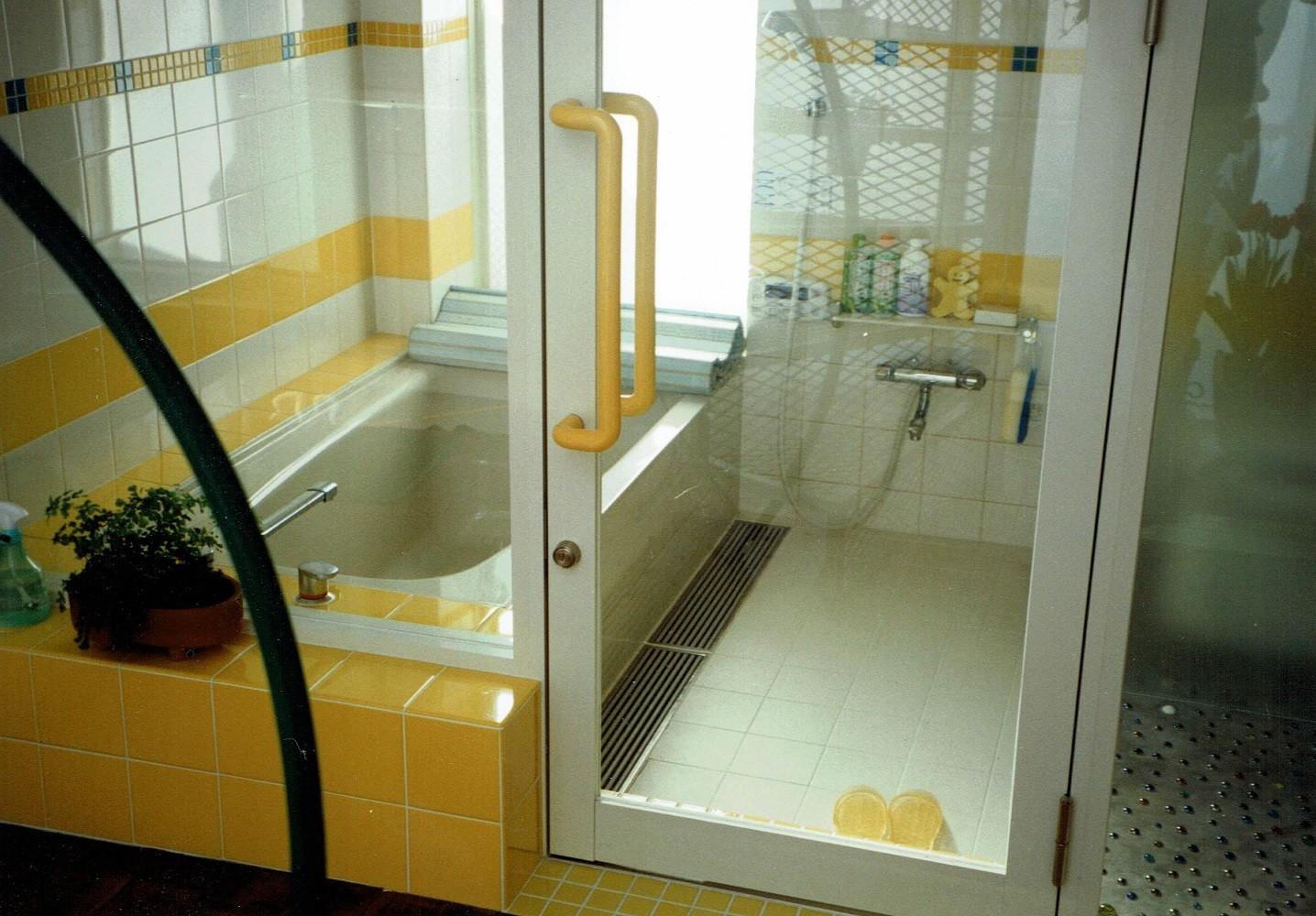 バス/トイレ事例:サニタリー空間(広く魅せる工夫を凝らす狭小住宅:鉄骨構造の小さい住宅)