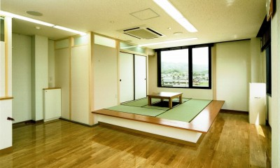 高床式和室|眺望を楽しむ暮らし:ビルのリノベーション