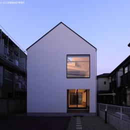 デザイン住宅外観いろいろ (猫と犬と住む家 二世帯住宅のOUCHI-14)