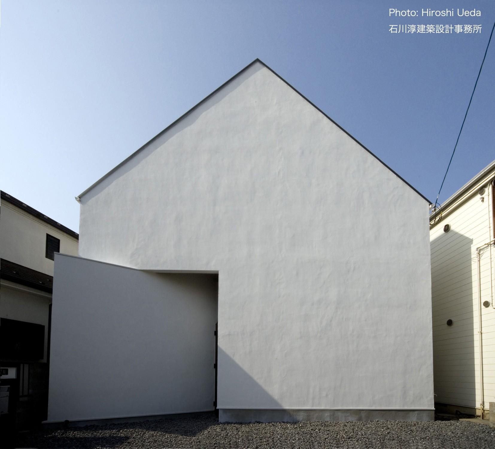 外観事例:狭小二世帯住宅 ミニマルデザインの家 OUCHI-01(デザイン住宅外観いろいろ)