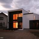 デザイン住宅外観いろいろの写真 甲府のハコ型の家