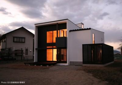 甲府のハコ型の家 (デザイン住宅外観いろいろ)