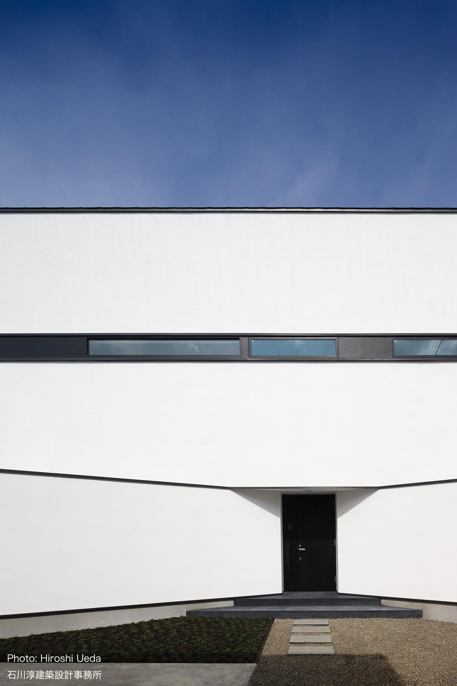 外観事例:福島 屋上バルコニーのある家 ハコノオウチ06(デザイン住宅外観いろいろ)