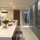 典雅さを目指した広尾の住まい RCビシャン仕上げの外観 シノワズリのインテリア空間の写真 広尾の住まいキッチン