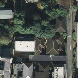 典雅さを目指した広尾の住まい RCビシャン仕上げの外観 シノワズリのインテリア空間 (広尾の住まい敷地は緑に囲まれている)