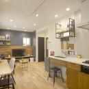 ワンフロアのナチュラルなLDKの写真 キッチン1
