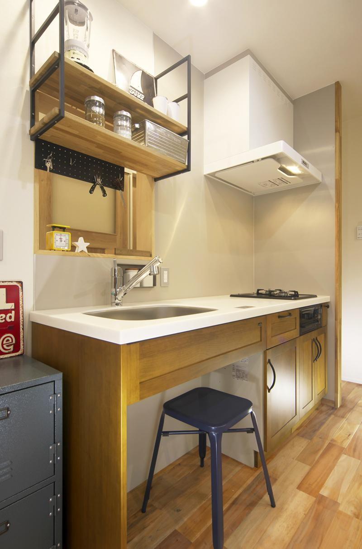 キッチン事例:キッチン2(ワンフロアのナチュラルなLDK)