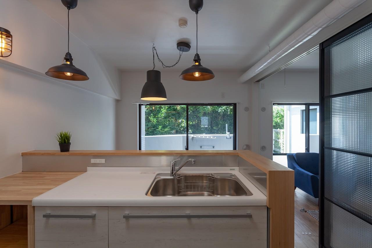 キッチン事例:キッチンは使いやすさ(暮らしのシーンを彩る家)