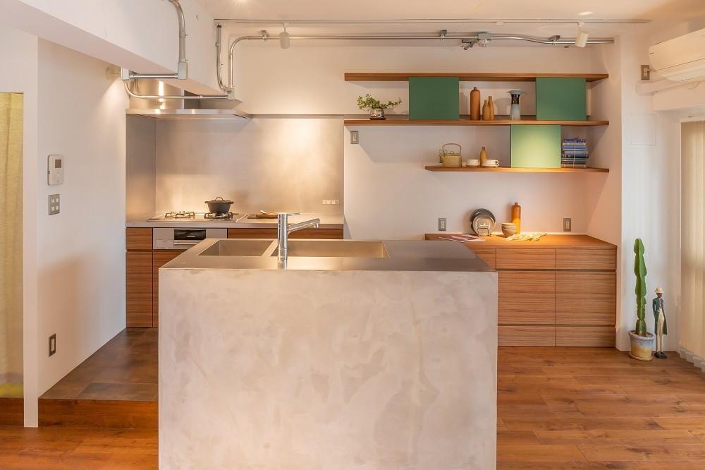 キッチン事例:キッチン(すっきり暮らす家)