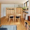駒沢公園の家〜倉庫のような外観・柔らかい室内〜の写真 ダイニング