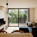 駒沢公園の家〜倉庫のような外観・柔らかい室内〜の写真 リビング