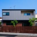 駒沢公園の家〜倉庫のような外観・柔らかい室内〜の写真 道路側外観