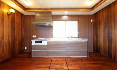 キッチン|縁側で夏を感じる家