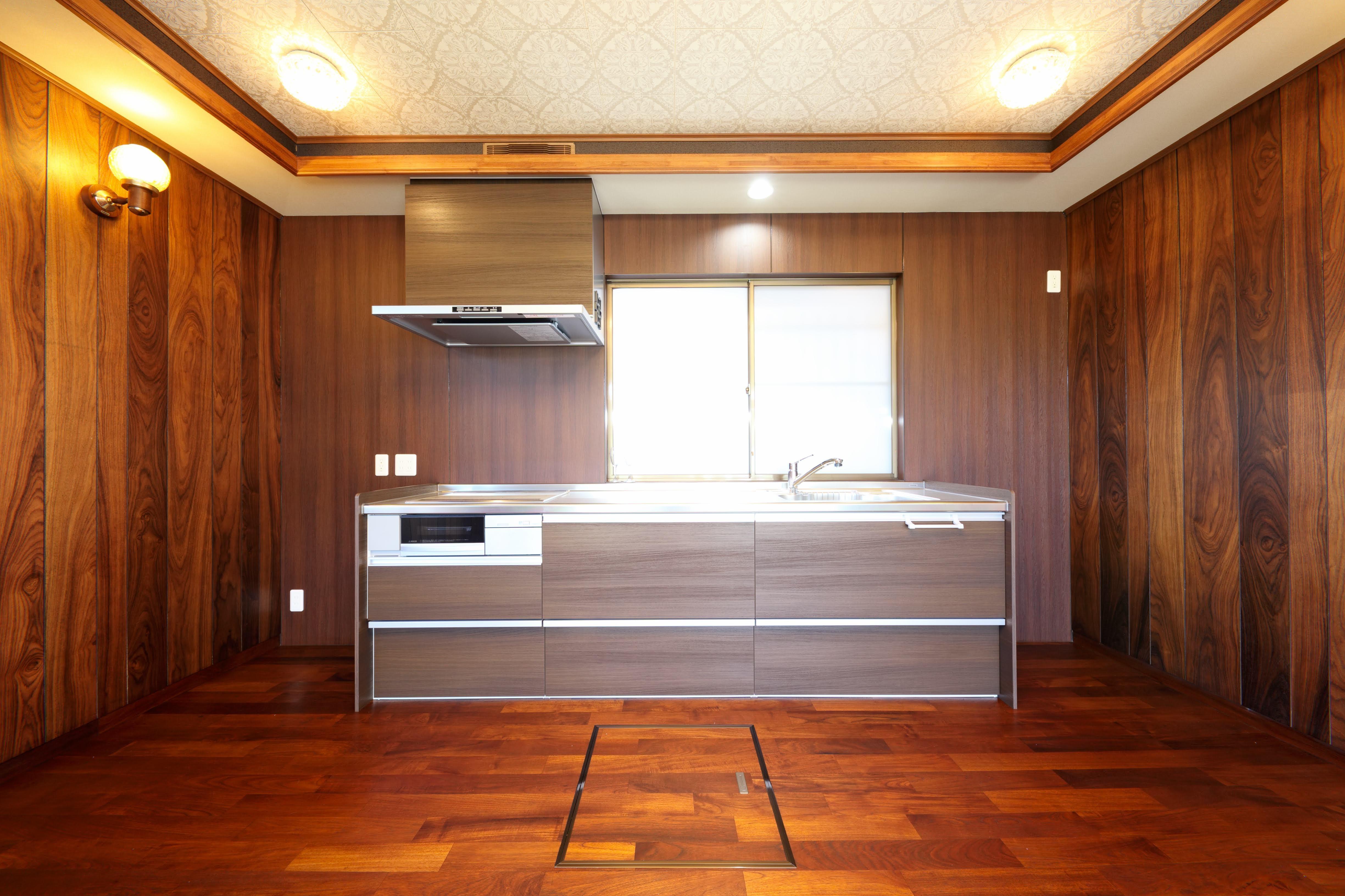 キッチン事例:キッチン(縁側で夏を感じる家)