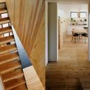 駒沢公園の家〜倉庫のような外観・柔らかい室内〜の写真 階段と階段ホール