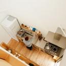 駒沢公園の家〜倉庫のような外観・柔らかい室内〜の写真 キッチン上部