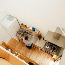駒沢公園の家〜倉庫のような外観・柔らかい室内〜 (キッチン上部)