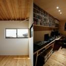 駒沢公園の家〜倉庫のような外観・柔らかい室内〜の写真 個室と書斎