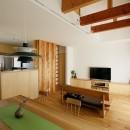 北寺尾の家〜LDKを作るリノベーション〜の写真 リビング