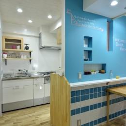 キッチン1 (オーシャンブルースタイル)