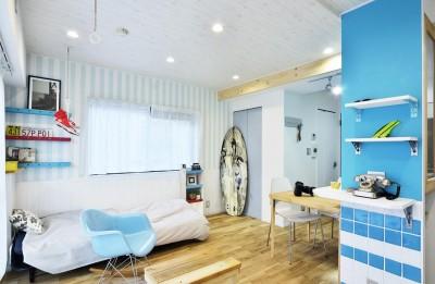 寝室 (オーシャンブルースタイル)