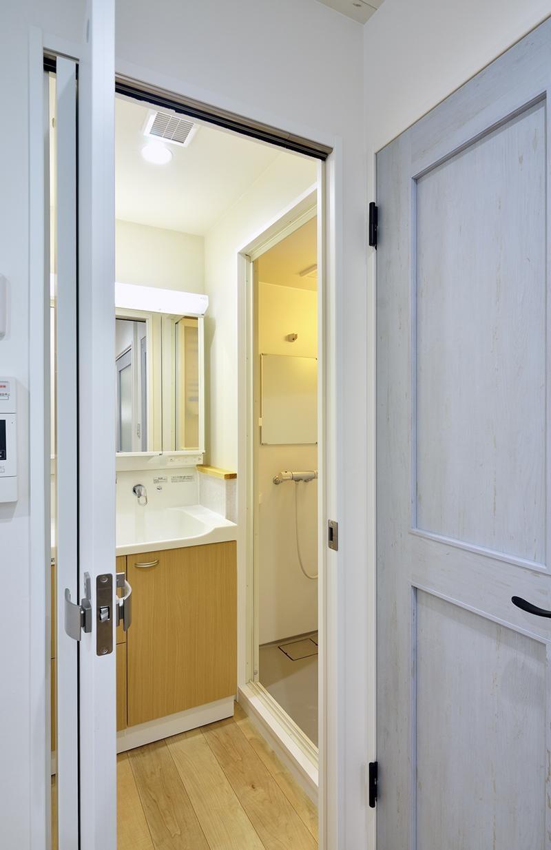 使い勝手の良いワンルームマンション (洗面・シャワー室)