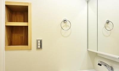 使い勝手の良いワンルームマンション (洗面室)