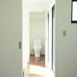 大田区 大岡山 WHITE HOUSE 1 (ベッドルームからトイレ)