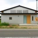 休耕地に建つ女性のための住宅の写真 休耕地の家|東側外観