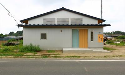 休耕地の家|東側外観|休耕地の家~農地転用後の平屋の住まい~