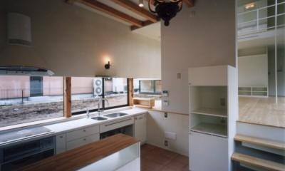 地窓の家〜地窓と3つの庭と2つの書斎がある家〜 (ダイニング・キッチン)