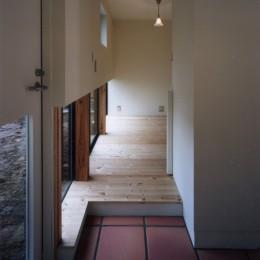 地窓の家〜地窓と3つの庭と2つの書斎がある家〜 (玄関と書斎)