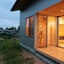 休耕地に建つ女性のための住宅の写真 休耕地の家|インナーテラス
