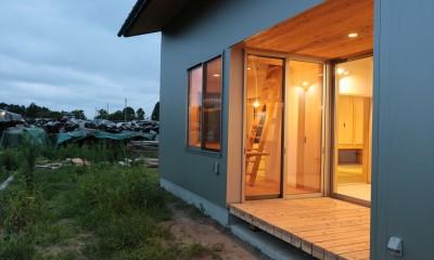 休耕地の家|インナーテラス|休耕地の家~農地転用後の平屋の住まい~