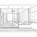 眺望を楽しむ暮らし:ビルのリノベーションの写真 スケッチ:バスルーム