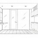 眺望を楽しむ暮らし:ビルのリノベーションの写真 スケッチ:化粧・脱衣室